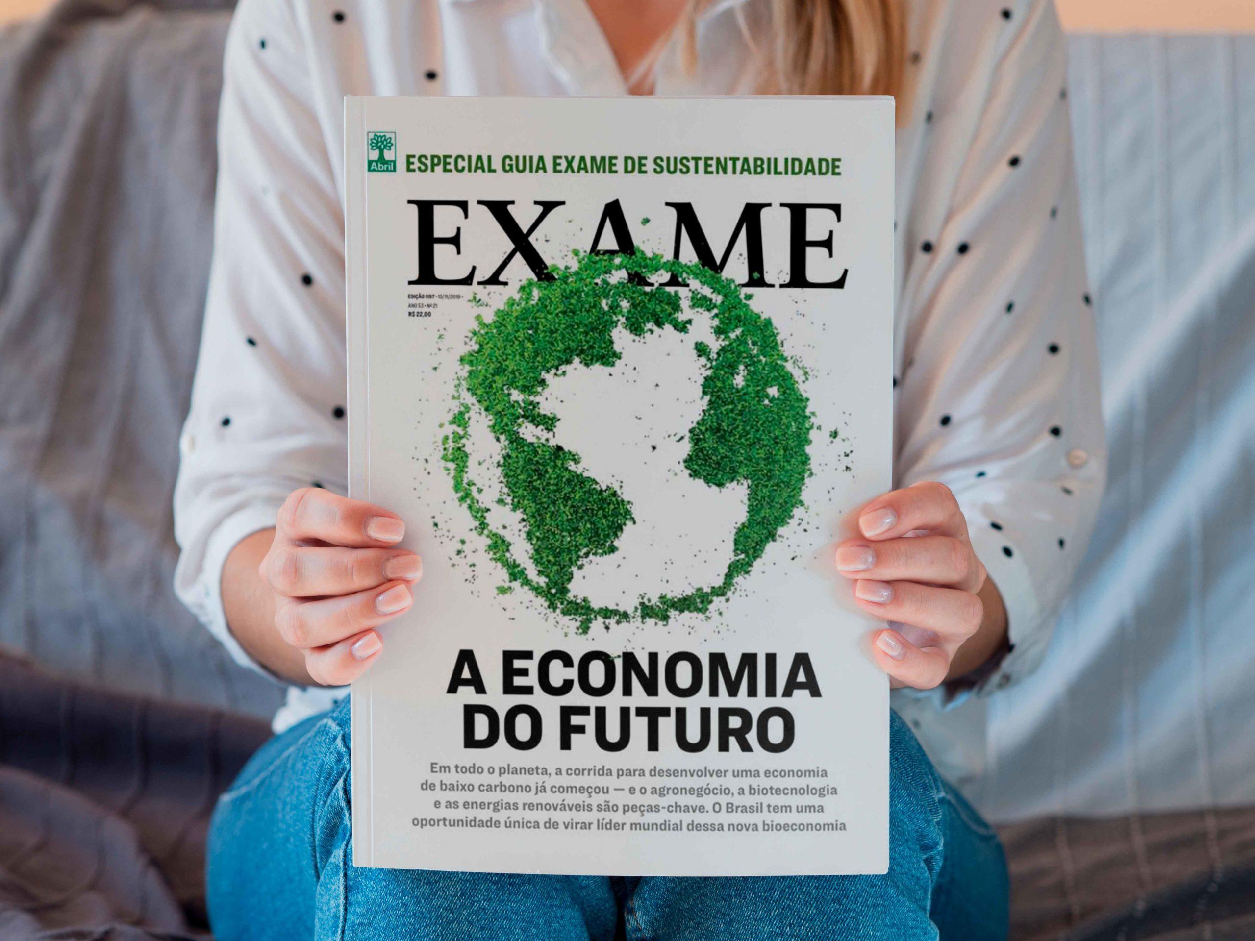 Empresa mais sustentável de transporte e logística pela Revista Exame