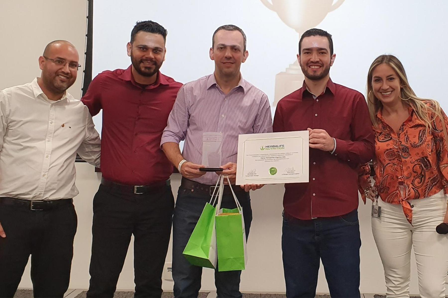 Prêmio melhor transportadora pela Herbalife