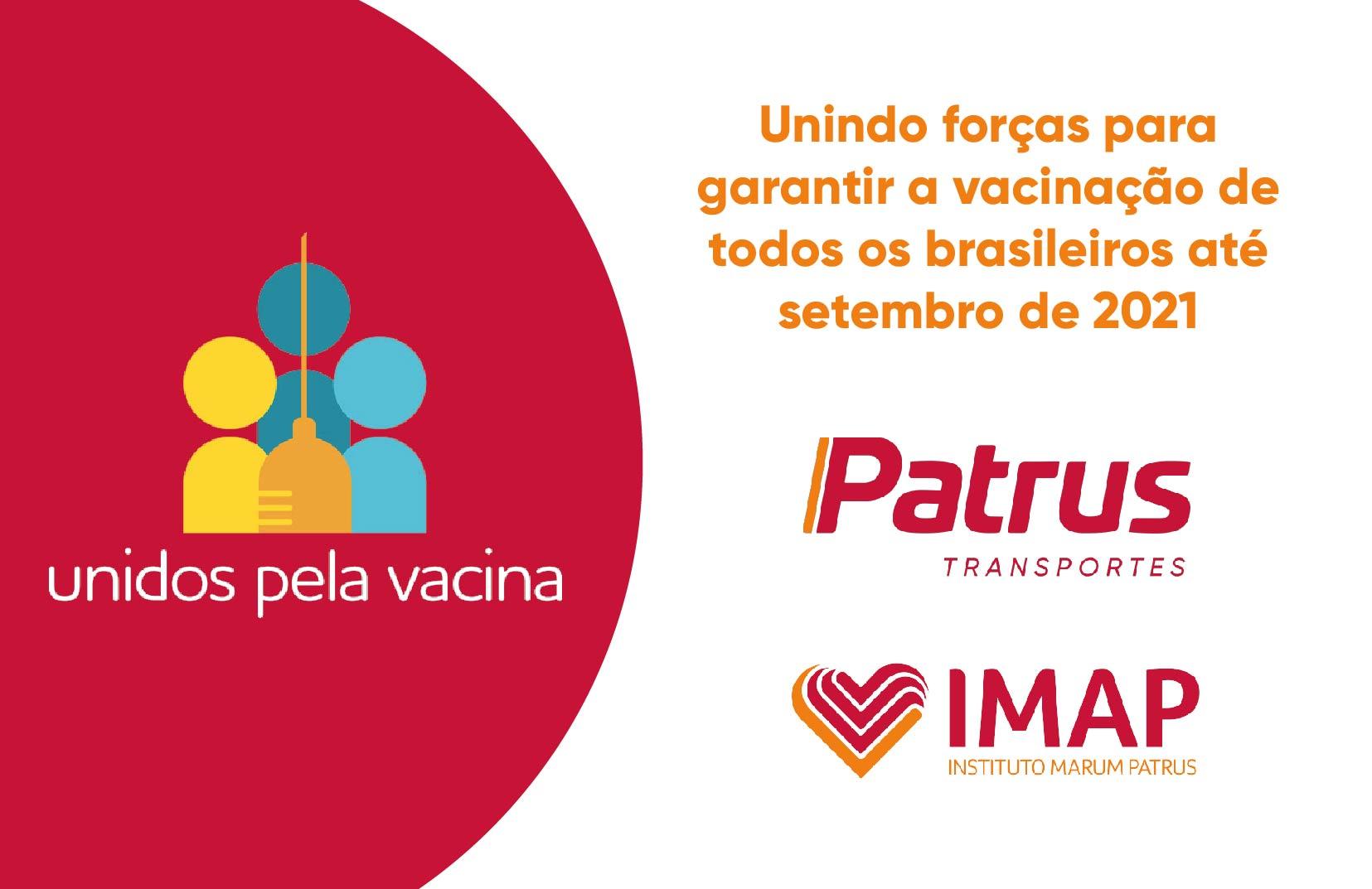 Patrus Transportes e IMAP apoiam o movimento Unidos pela Vacina