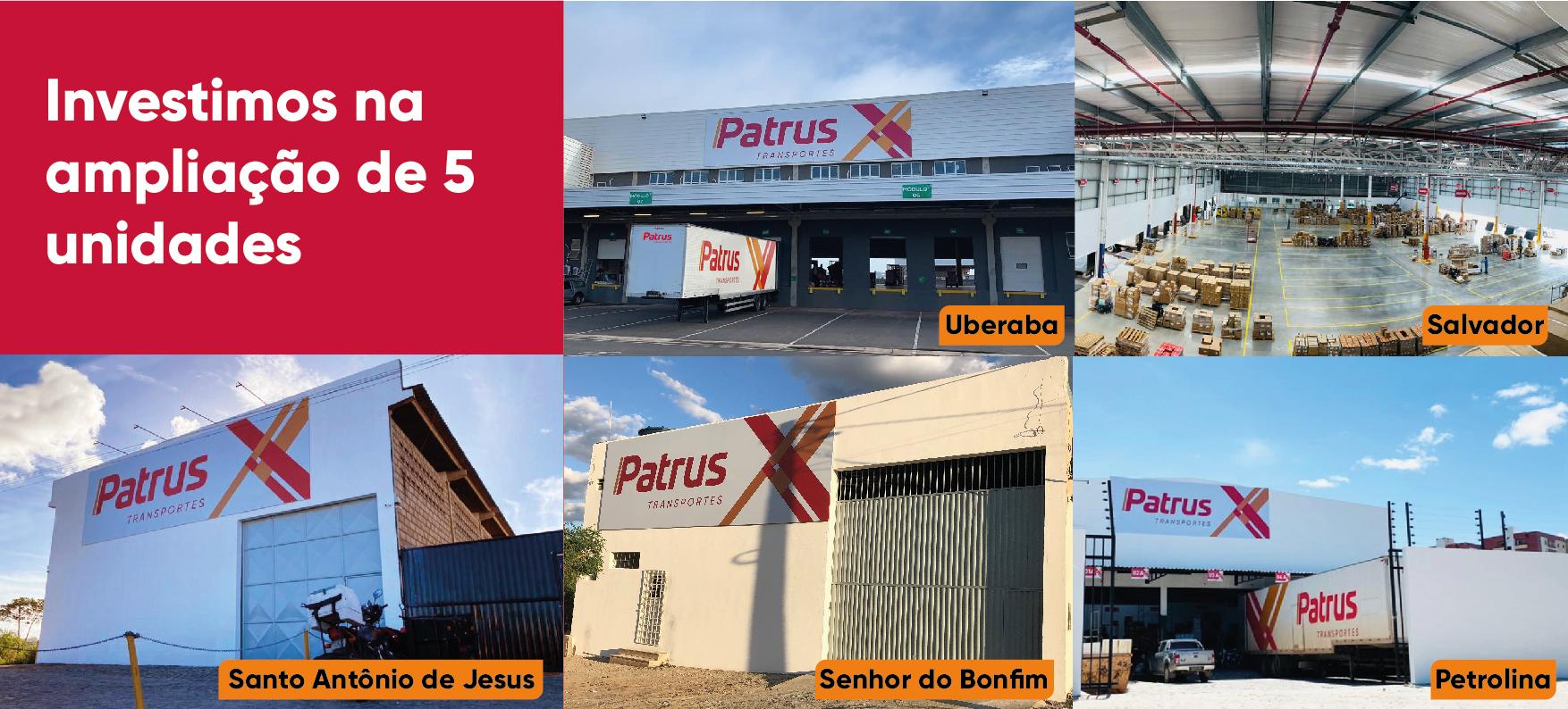 Patrus Transportes investe em novos terminais no Nordeste e em Minas Gerais